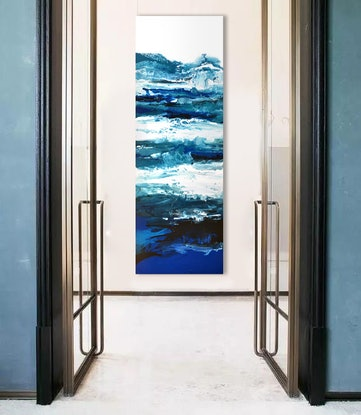 (CreativeWork) Deep Blue Waters by Brigitte Ackland. Acrylic Paint. Shop online at Bluethumb.