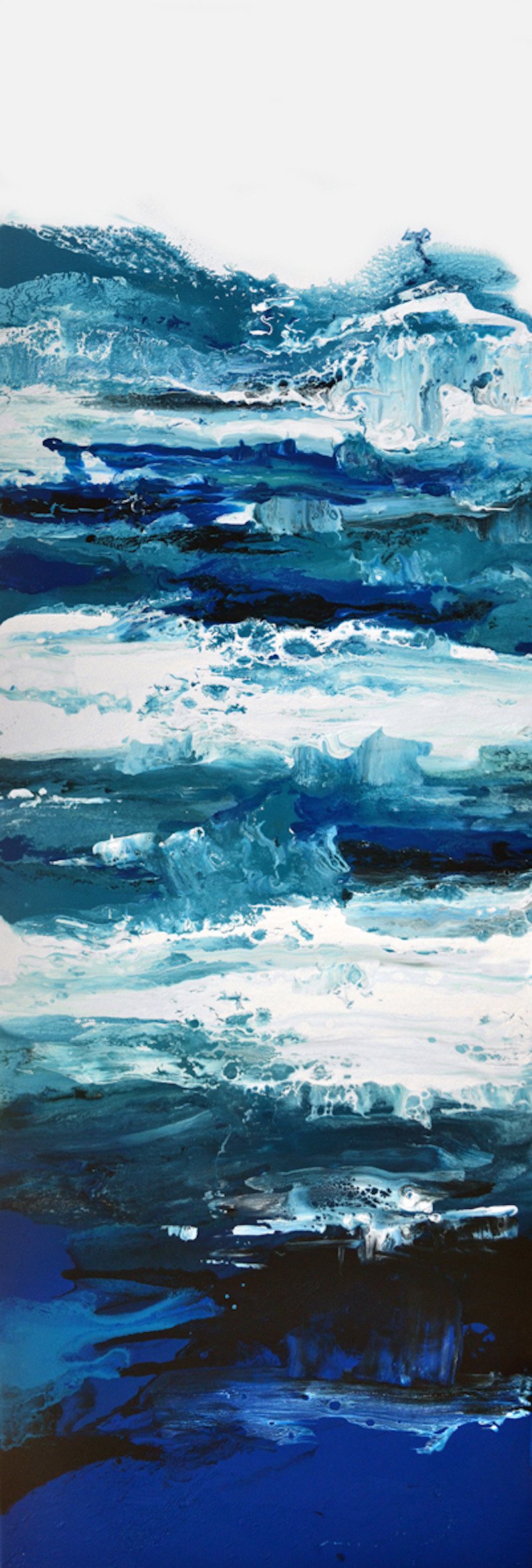 (CreativeWork) Deep Blue Waters by Brigitte Ackland. arcylic-painting. Shop online at Bluethumb.