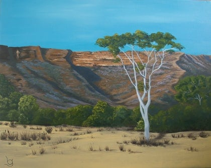 (CreativeWork) GHOSTLY SOLITUDE by Lynne Gehrke. arcylic-painting. Shop online at Bluethumb.