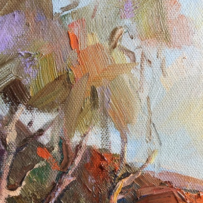 (CreativeWork) A touch of autumn by Liliana Gigovic. Oil Paint. Shop online at Bluethumb.