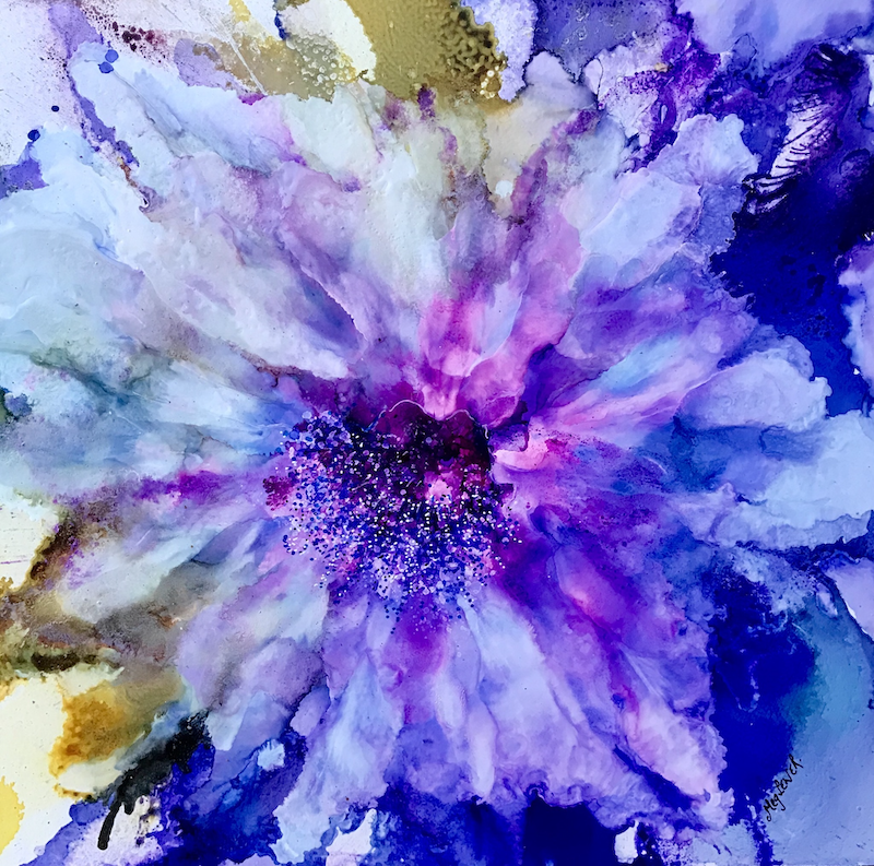 (CreativeWork) Purple Folly by Meg Lewer. other-media. Shop online at Bluethumb.