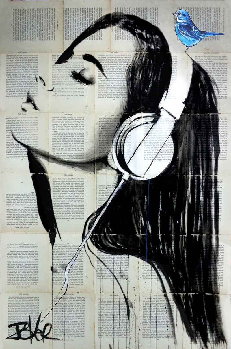 (CreativeWork) BIG AUDIO by loui jover. drawing. Shop online at Bluethumb.