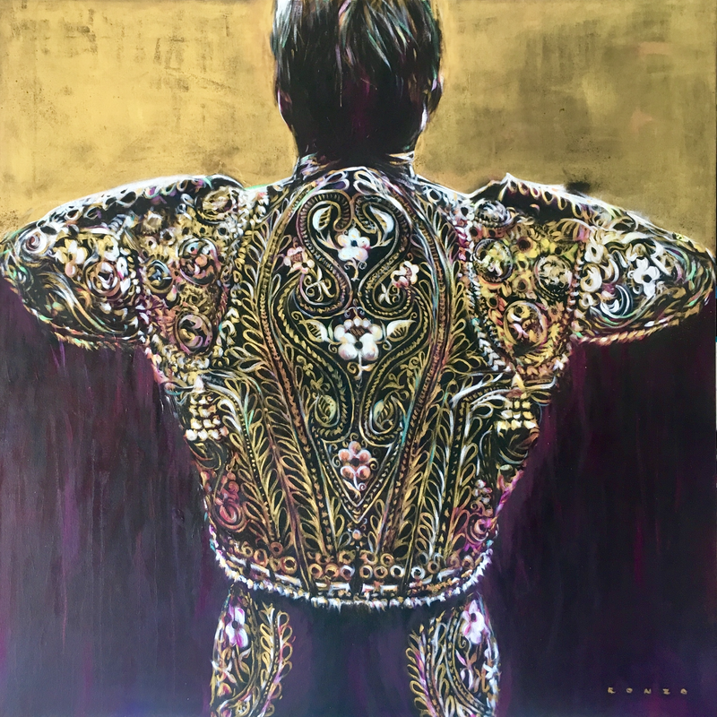 (CreativeWork) Gold Matador by Ronzo Weideman. oil-painting. Shop online at Bluethumb.