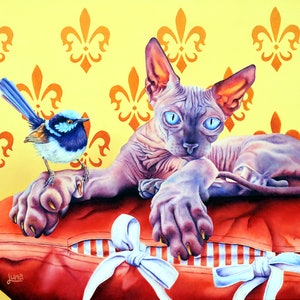 (CreativeWork) Friend Or Foe by Luna Vermeulen. oil-painting. Shop online at Bluethumb.