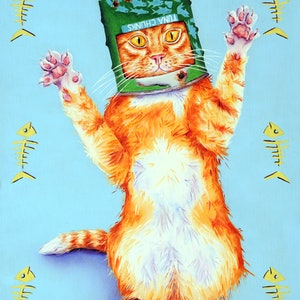 (CreativeWork) Ned Kitty by Luna Vermeulen. oil-painting. Shop online at Bluethumb.
