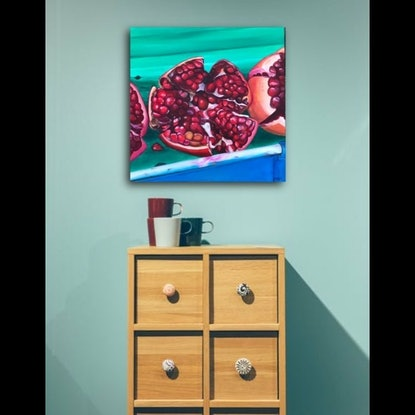 (CreativeWork) Scarlett Jewels - (Price adjusted) by Hayley Kruger. Acrylic Paint. Shop online at Bluethumb.