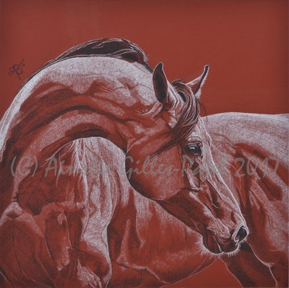 (CreativeWork) Contemplation by Ainslie Gilles-Patel. drawing. Shop online at Bluethumb.