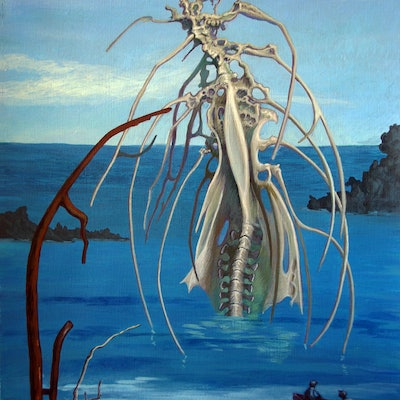 (CreativeWork) THINGS FROM THE OCEAN – GATEWAY  by Elizabeth Barsham. acrylic-painting. Shop online at Bluethumb.
