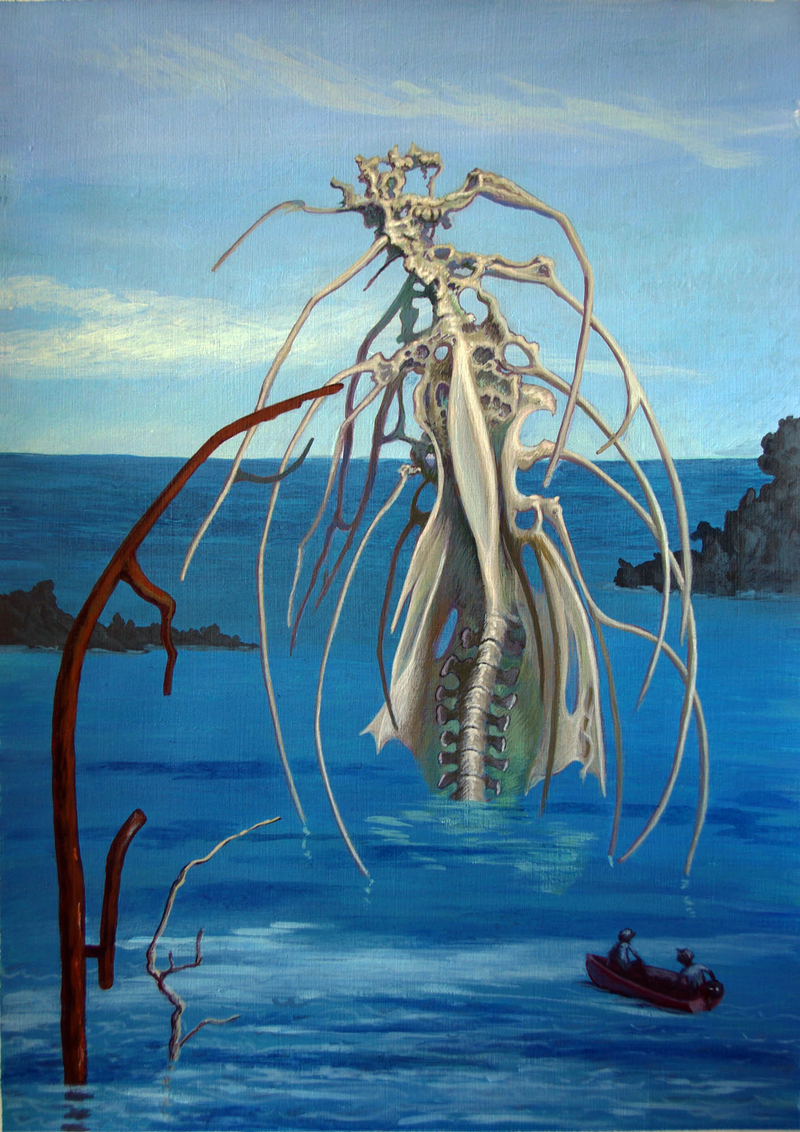 (CreativeWork) THINGS FROM THE OCEAN – GATEWAY  by Elizabeth Barsham. arcylic-painting. Shop online at Bluethumb.