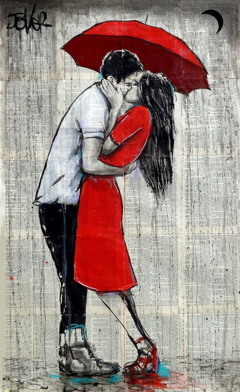 (CreativeWork) FINAL KISS by loui jover. drawing. Shop online at Bluethumb.
