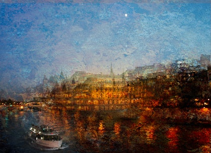 (CreativeWork) Louvres on the Seine by Joseph Remi d'Argent. photograph. Shop online at Bluethumb.