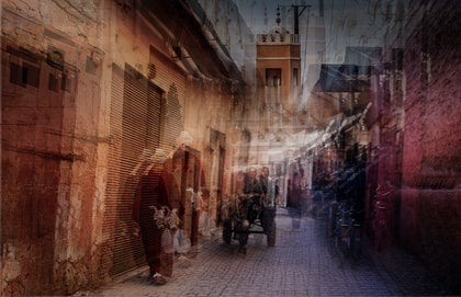 (CreativeWork) Walking The Souk by Joseph Remi d'Argent. photograph. Shop online at Bluethumb.