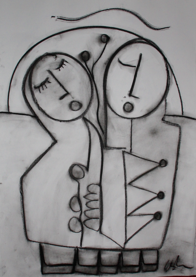 (CreativeWork) ALWAYS TOGETHER by DEREK ERSKINE. drawing. Shop online at Bluethumb.