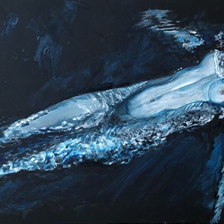 (CreativeWork) Washed Up  by olivia Robinson. Acrylic Paint. Shop online at Bluethumb.