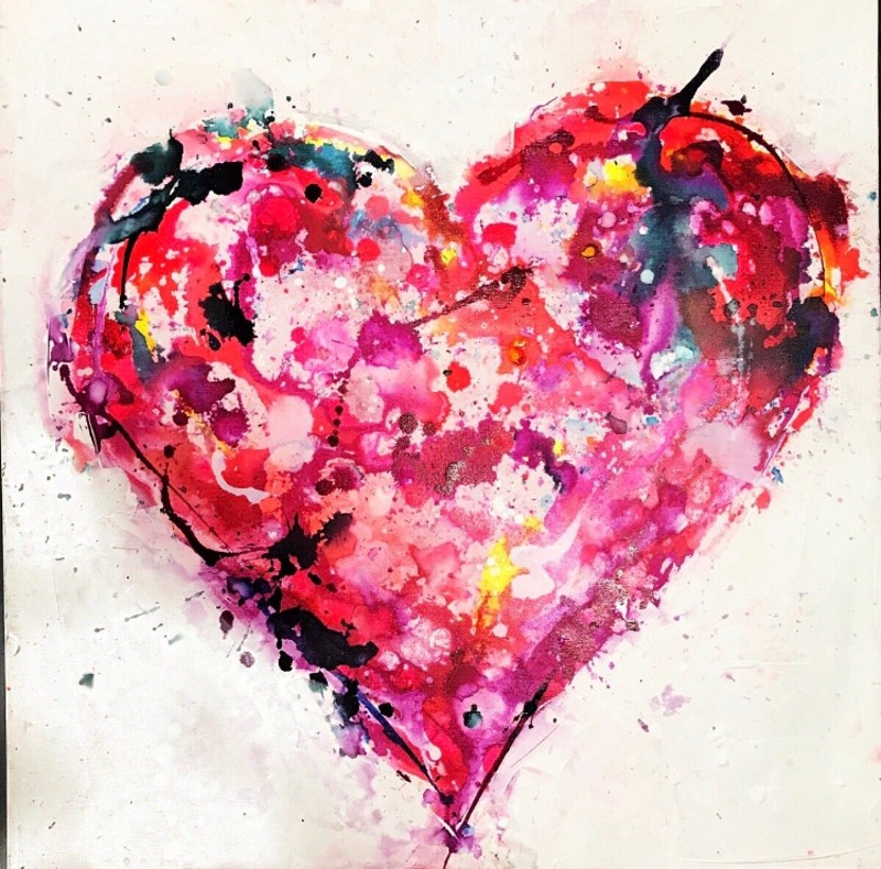 (CreativeWork) Filled with Love by Melissa La Bozzetta. mixed-media. Shop online at Bluethumb.