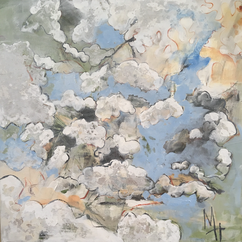 (CreativeWork) Silver Lining by Meredith Howse. mixed-media. Shop online at Bluethumb.