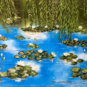 (CreativeWork) Lilian lake by atefeh hekmat. oil-painting. Shop online at Bluethumb.