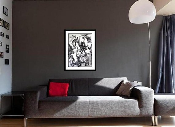 (CreativeWork) Its all Black & White  by Glenise Clelland. Drawings. Shop online at Bluethumb.