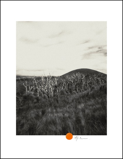 (CreativeWork) Round hill by Mat Hughes. photograph. Shop online at Bluethumb.