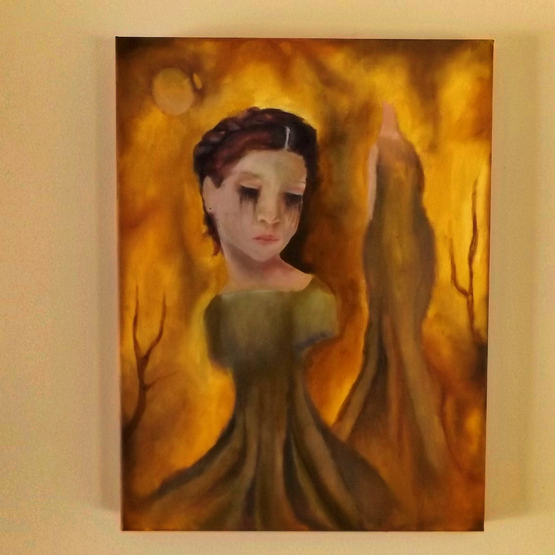 (CreativeWork) LENA DUSK by Jamie-lee Marks. arcylic-painting. Shop online at Bluethumb.