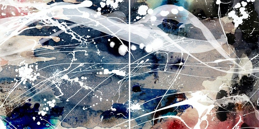 (CreativeWork) Edge Of The Ocean by Lynne Godina-Orme. Mixed Media. Shop online at Bluethumb.