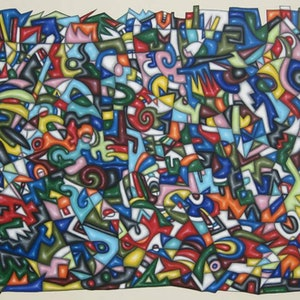 (CreativeWork) XS by PATRICE EYMARD. arcylic-painting. Shop online at Bluethumb.