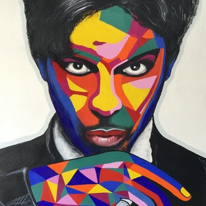 (CreativeWork) Prince 1 by Heather Cleland. arcylic-painting. Shop online at Bluethumb.