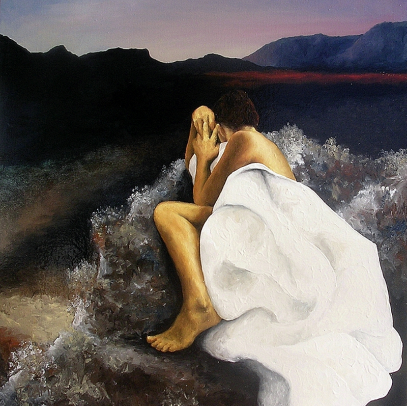 (CreativeWork) Forsaken by Trisha Lambi. Oil Paint. Shop online at Bluethumb.