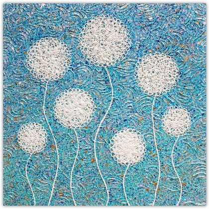 (CreativeWork) Flowers - Coastal Wild Flowers vs 2 - Abstract by Miranda Lloyd. mixed-media. Shop online at Bluethumb.