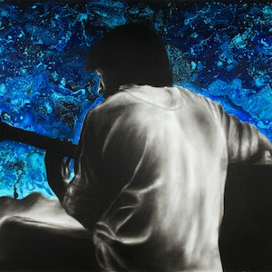 (CreativeWork) Symphony of One by Ashvin Harrison. mixed-media. Shop online at Bluethumb.