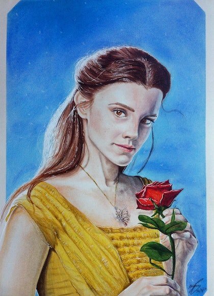 (CreativeWork) Belle by Megan Pears. drawing. Shop online at Bluethumb.