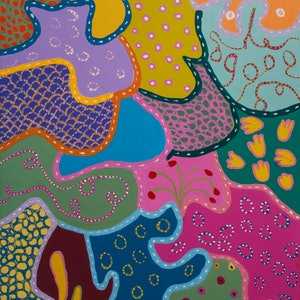 (CreativeWork) Patterns of Another Galaxy by Helen Joynson. arcylic-painting. Shop online at Bluethumb.