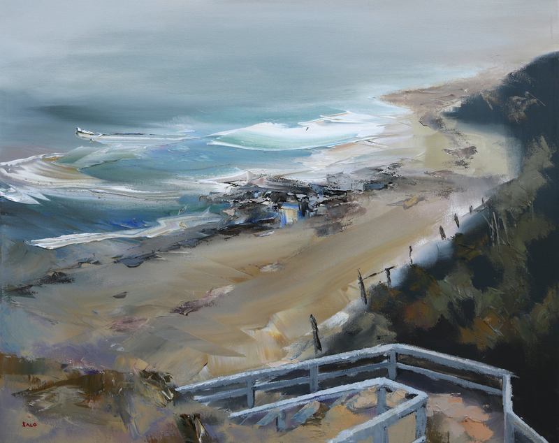 (CreativeWork) Point Lonsdale by Steve Salo. oil-painting. Shop online at Bluethumb.