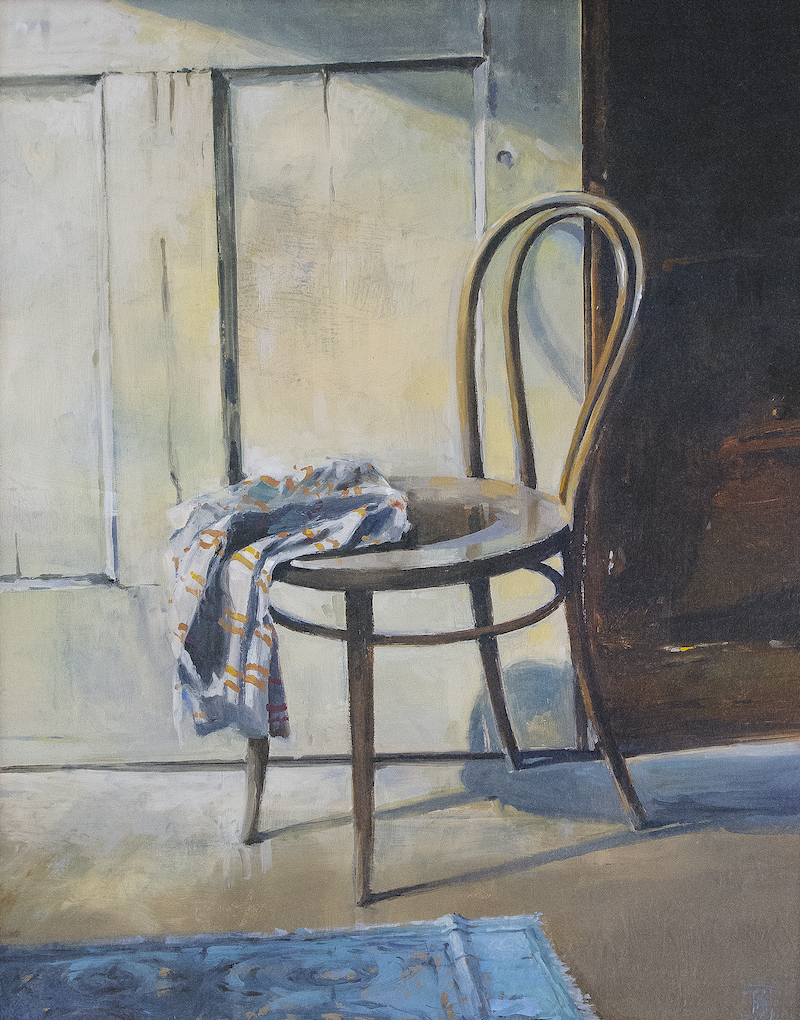 (CreativeWork) Chair in my Studio by Tony Belobrajdic. Oil Paint. Shop online at Bluethumb.
