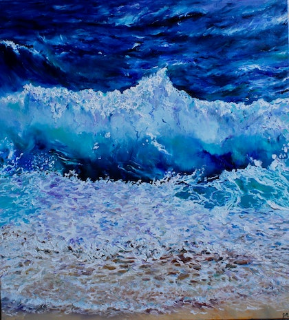 "(CreativeWork) ""The Ocean"" by Georgina Richmond. oil-painting. Shop online at Bluethumb."