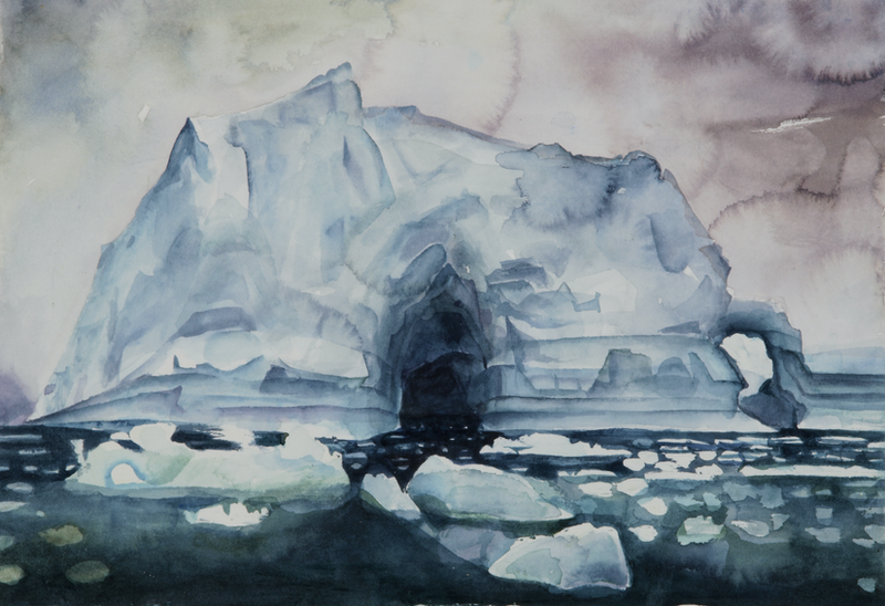 (CreativeWork) Icy Archway by Amanda Robins. watercolour. Shop online at Bluethumb.