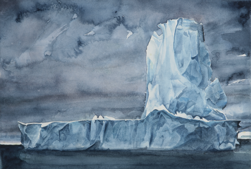 (CreativeWork) Icy Monument by Amanda Robins. watercolour. Shop online at Bluethumb.