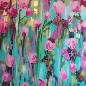 (CreativeWork) Antique Rose by Sandra Oost. arcylic-painting. Shop online at Bluethumb.