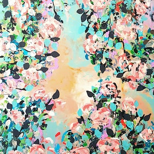 (CreativeWork) Beneath Summer Skies by Emily Lauro. arcylic-painting. Shop online at Bluethumb.