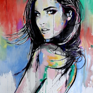 (CreativeWork) HERE THERE EVERYWHERE by loui jover. arcylic-painting. Shop online at Bluethumb.