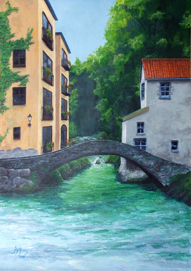 (CreativeWork) Somewhere in Italy by John N Mason. arcylic-painting. Shop online at Bluethumb.