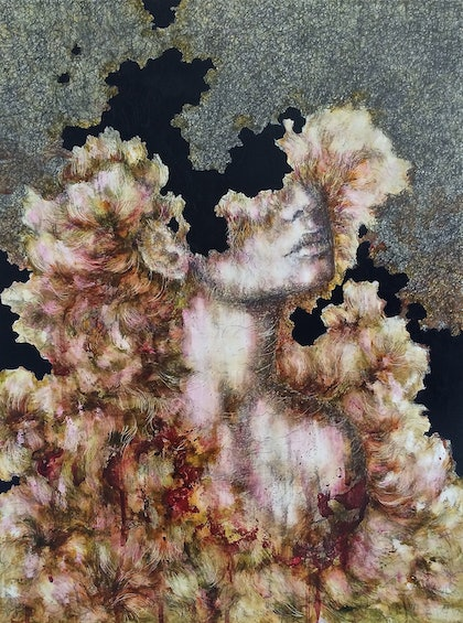 (CreativeWork) Windswept by april white. mixed-media. Shop online at Bluethumb.