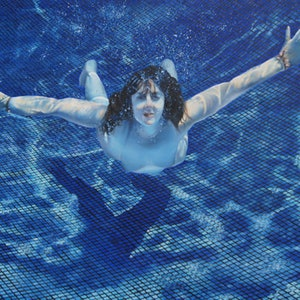 (CreativeWork) Swim by Mahyat Tehrany. oil-painting. Shop online at Bluethumb.