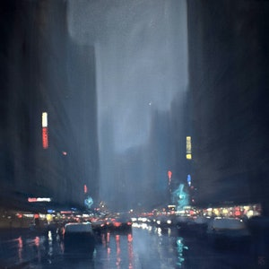 (CreativeWork) City lights by Mike Barr. #<Filter:0x000055a96ae875b0>. Shop online at Bluethumb.