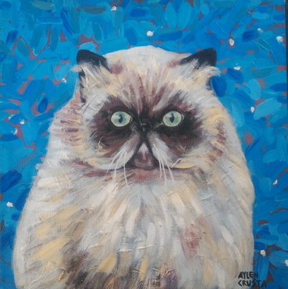(CreativeWork) MR. Cat - DISCOUNT FOR TRAVEL ! by Aylen Crusta. arcylic-painting. Shop online at Bluethumb.