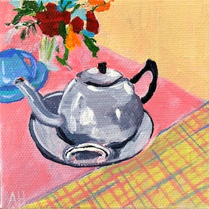 (CreativeWork) High Tea 6 by Amanda Hunt. arcylic-painting. Shop online at Bluethumb.
