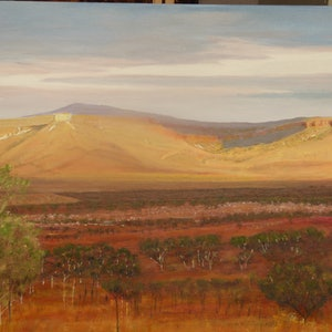 (CreativeWork) Sandy Strata in the Kimberley by Robin Tunnicliffe. oil-painting. Shop online at Bluethumb.