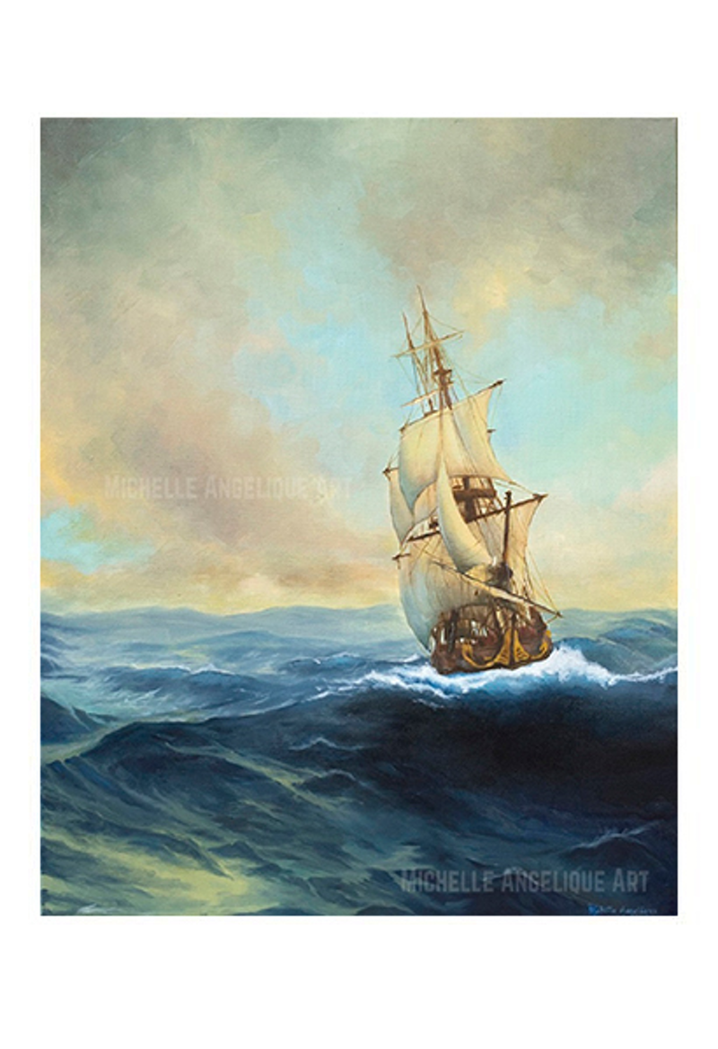 (CreativeWork) The Voyage Limited Edition Fine Art Print /100 Ed. 2 of 100 by Michelle Angelique. print. Shop online at Bluethumb.