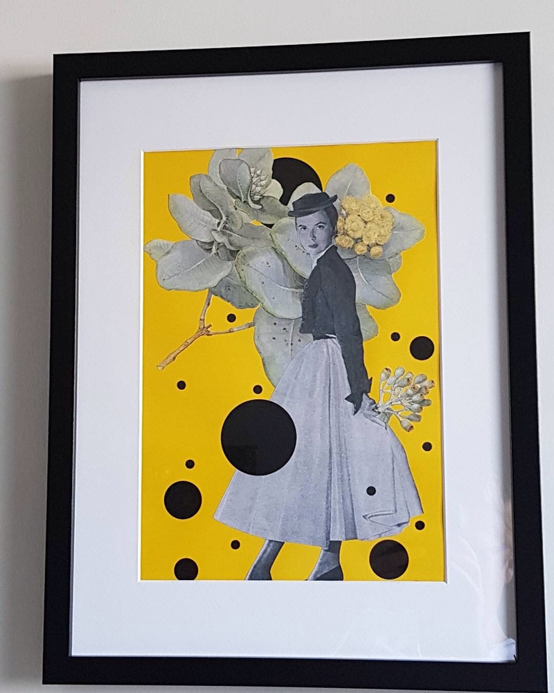 (CreativeWork) ''YellowSeries - #3' by Karen Coull. mixed-media. Shop online at Bluethumb.