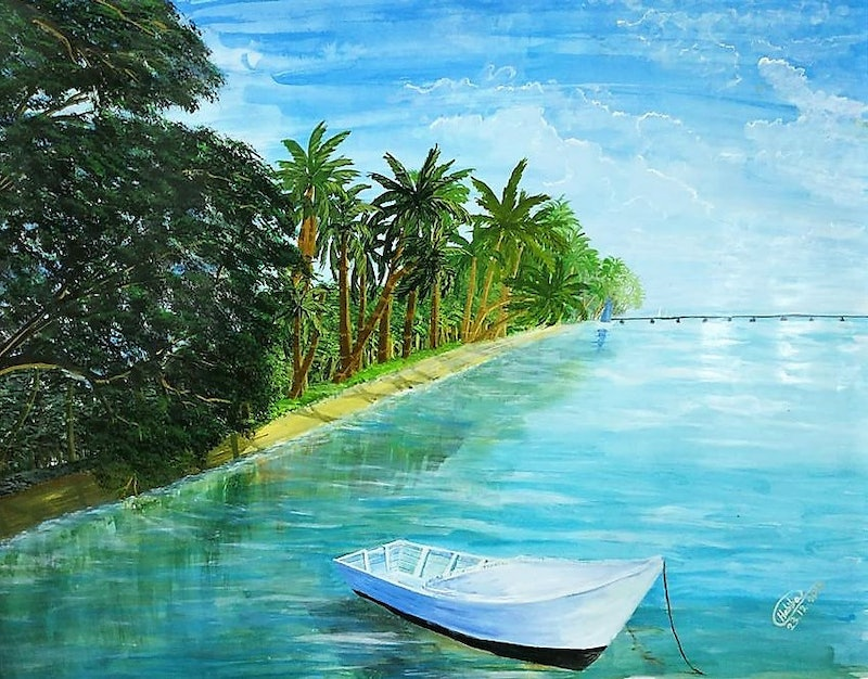 Relaxing Fiji By Habiba Tasnim Paintings For Sale